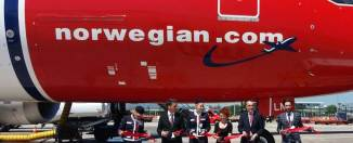 Inauguración vuelo Barcelona Miami en el aeropuerto de El Prat