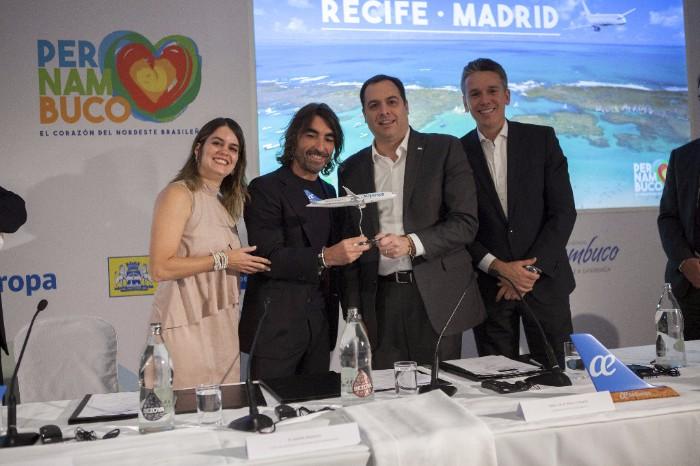 Presentación vuelo Air Europa Madrid-Recife