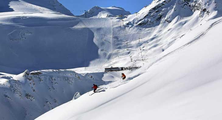 Esquí en Rettenbach y Tiefenbach en Ötztal © Isidor Asig
