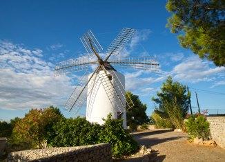 Molino harinero de Puid d'en Valls en Santa Eulària des Riu