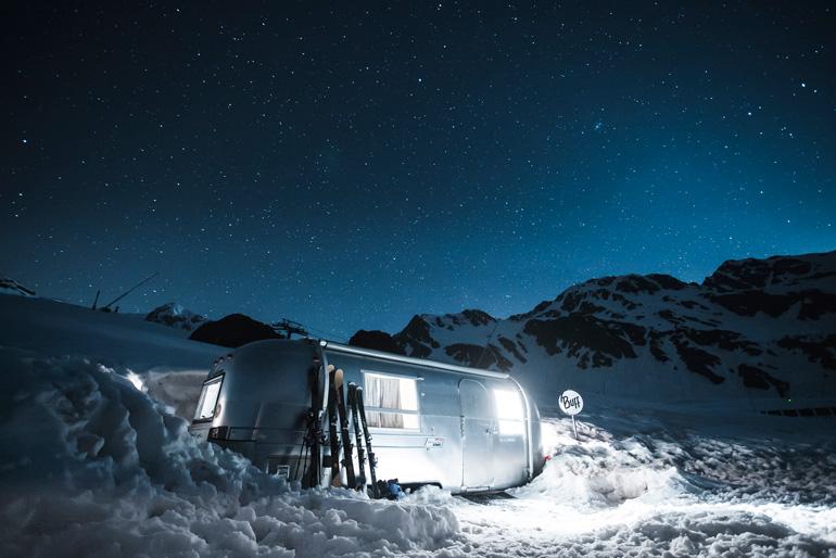 La caravana americana Airstream es una de las propuestas para pasar una noche en Vallnord