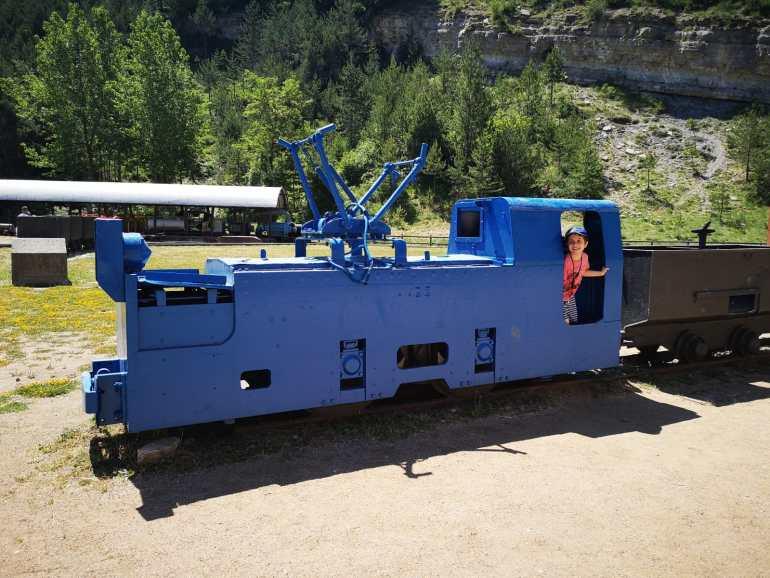 La visita a la mina de Sant Romà se hace en un tren