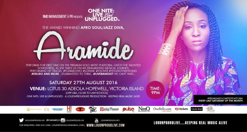 Catch Our Cover Personality – Aramide at One Nite Live & Unplugged