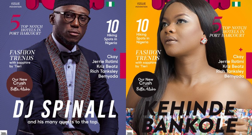 Ace DJ Spinall and Actress Kehinde Bankole Front the Covers of Tush Magazine's Summer Issue