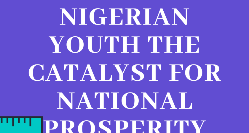 Nigerian Youth, The Catalyst For National Prosperity [Entry 8]