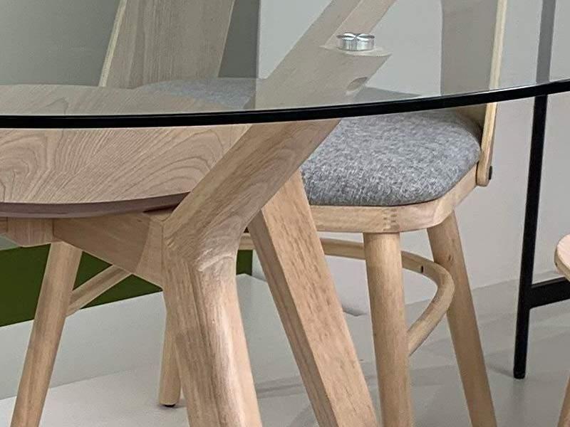 table ronde moderne diametre 120 cm en