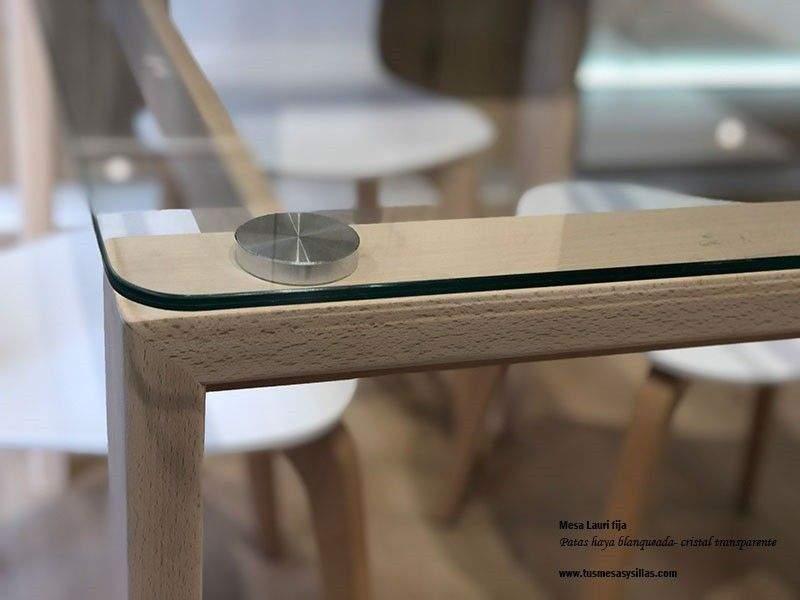 bureau avec plateau en verre feuillete