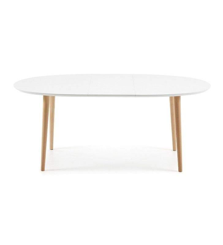 table ovale extensible oakland de style nordique pour cuisine ou salle a manger