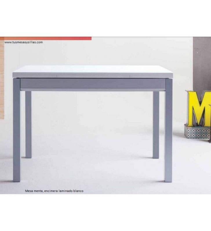 menta table de cuisine extensible avec tiroir