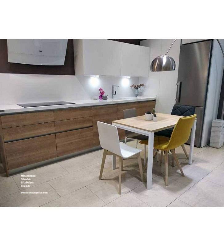 table a rallonge de 120x70 cm pour cuisine ou salon txindoki