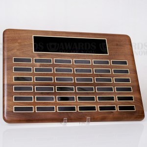 Walnut Perpetual Plaque