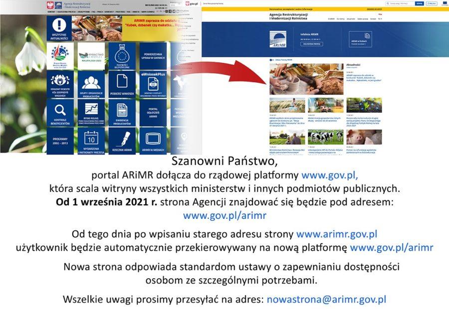 Portal ARiMR Pod Nowym Adresem 900x620