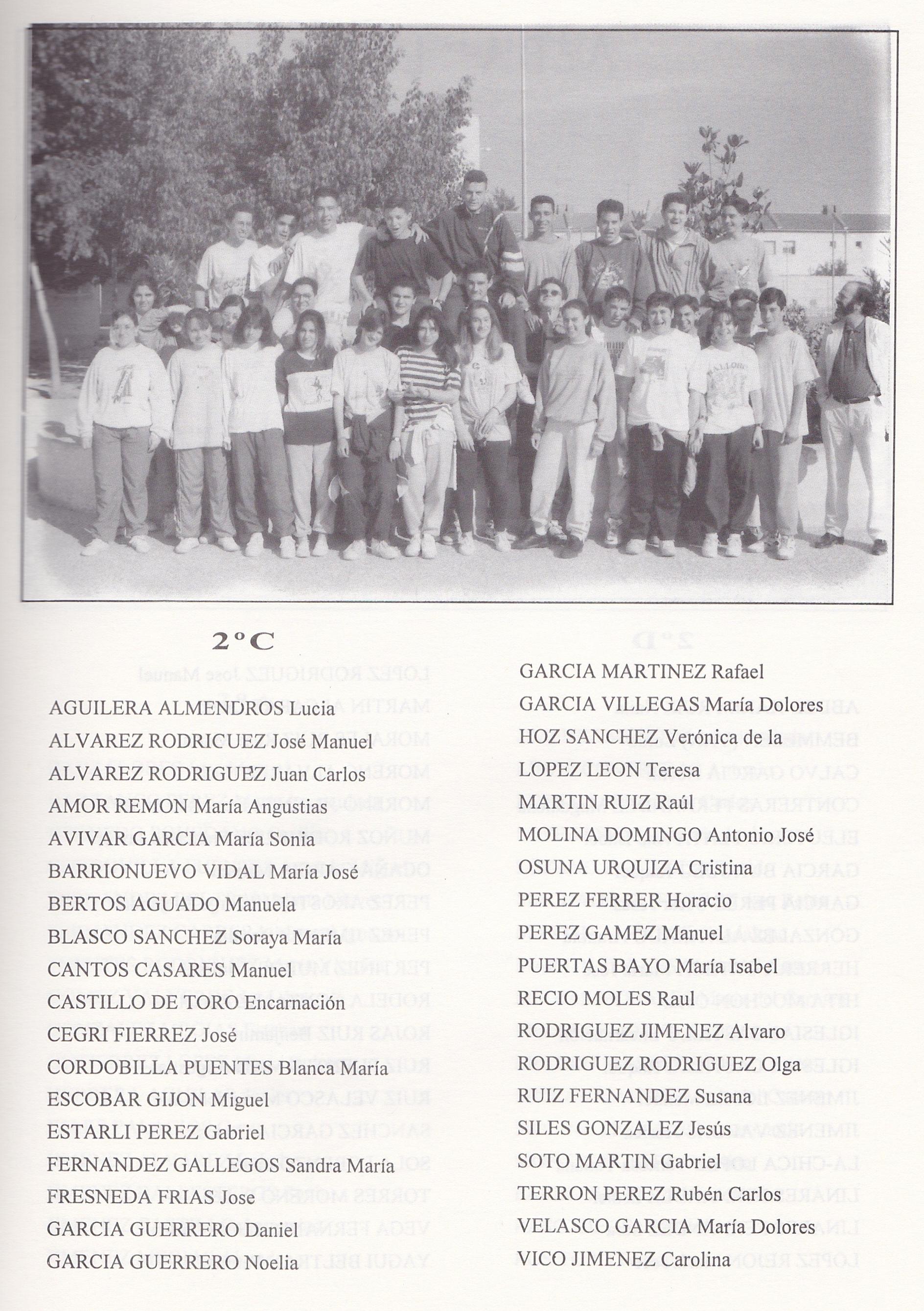 2º BUP C (curso 1993-1994)