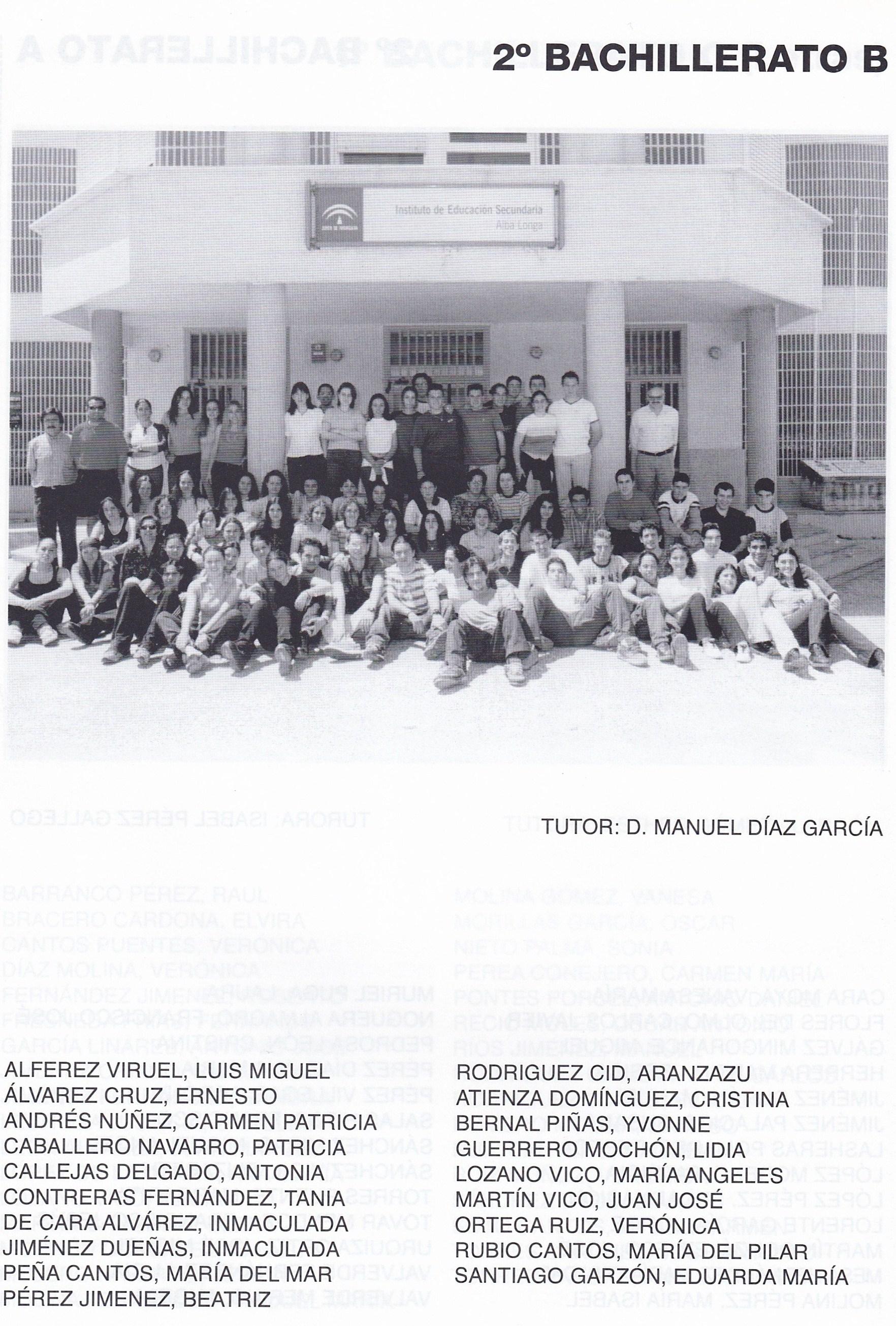 2ºBACH B (curso 1999-2000)
