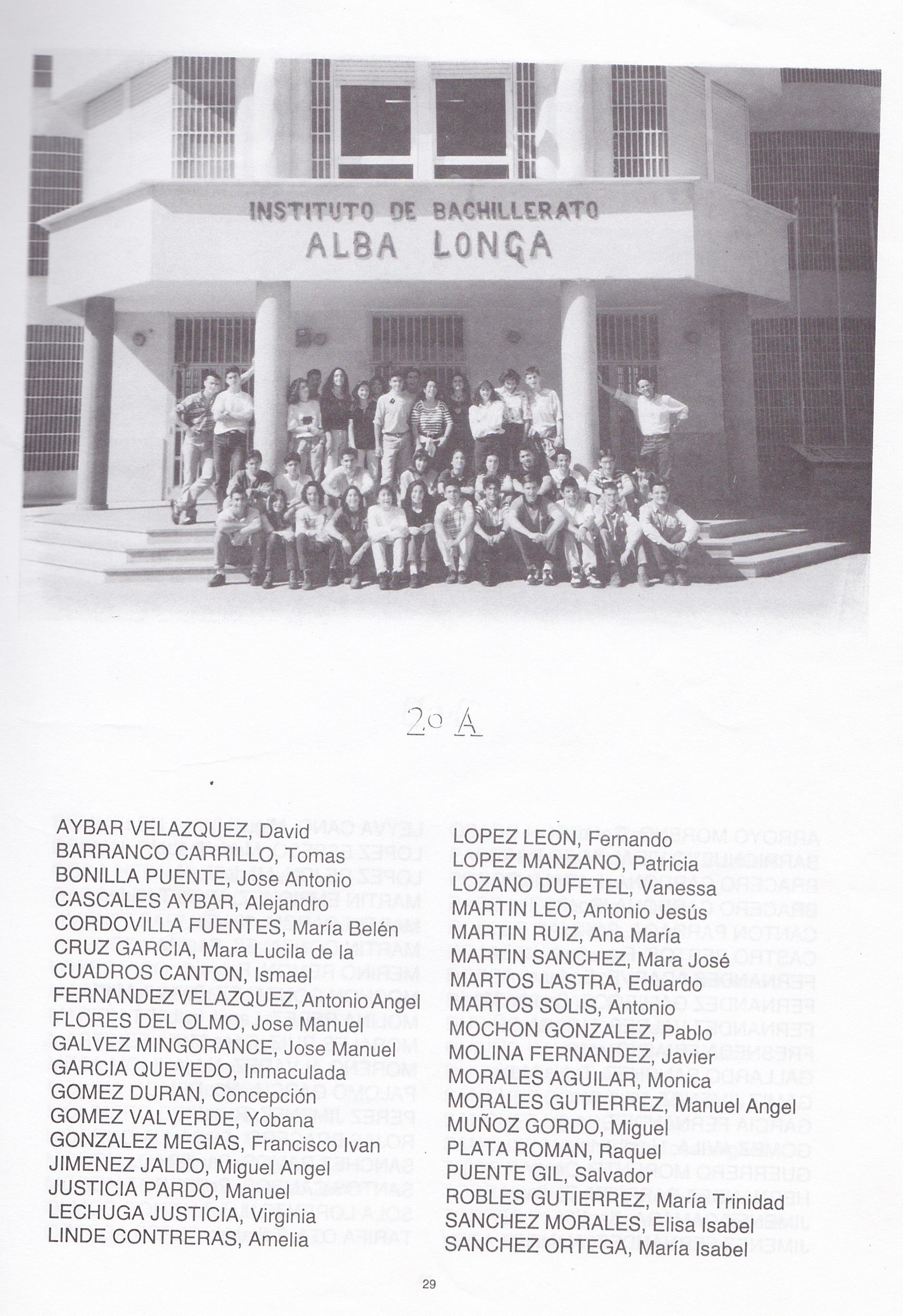 2ºBUP A (curso 1994-1995)