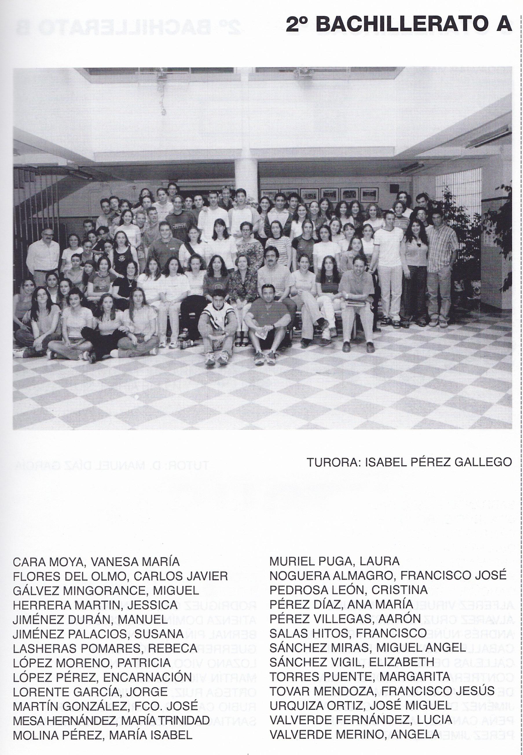 2BACH A (curso 1999-2000)