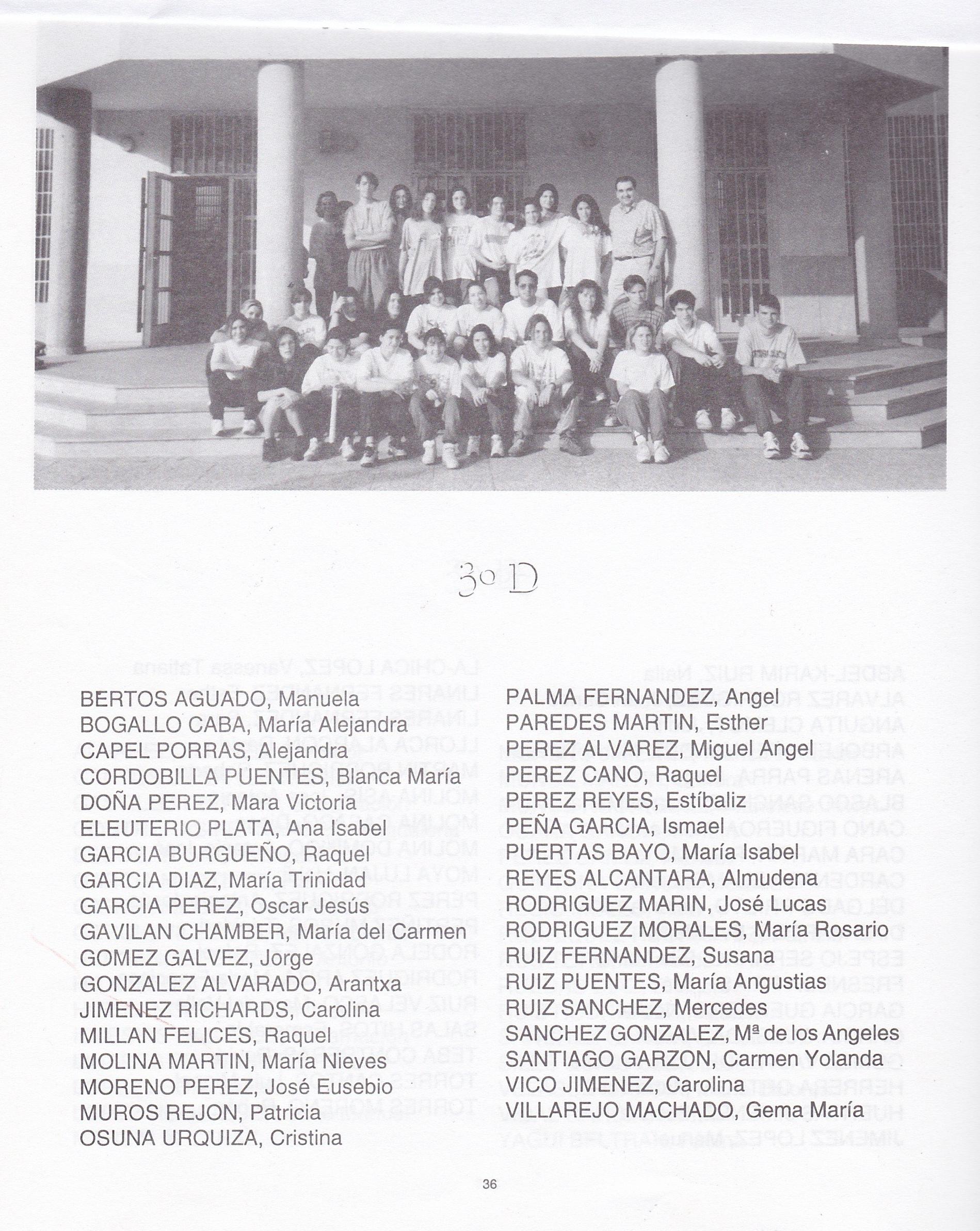 3ºBUP D (curso 1994-1995)