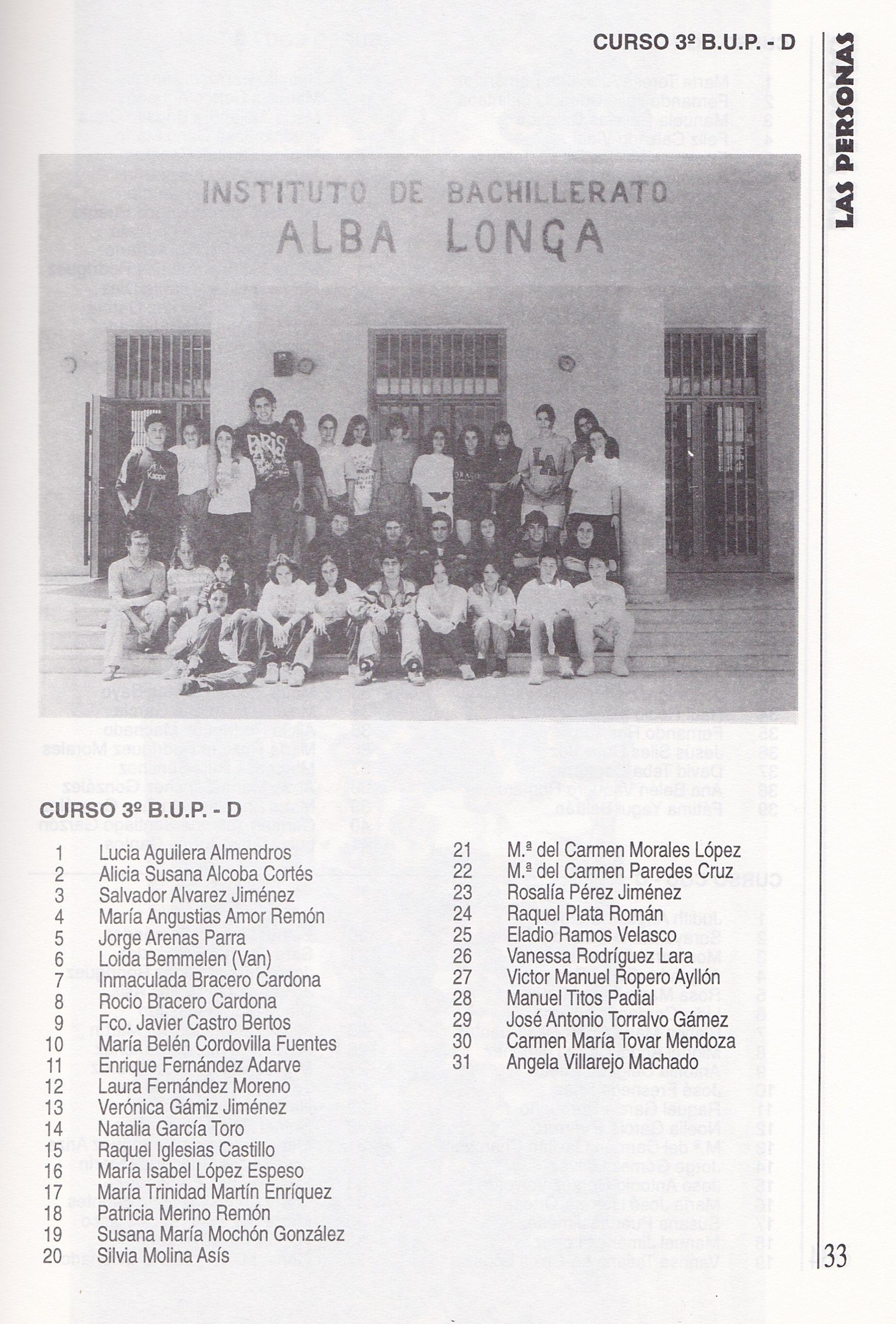 3ºBUP D (curso 1995-1996)