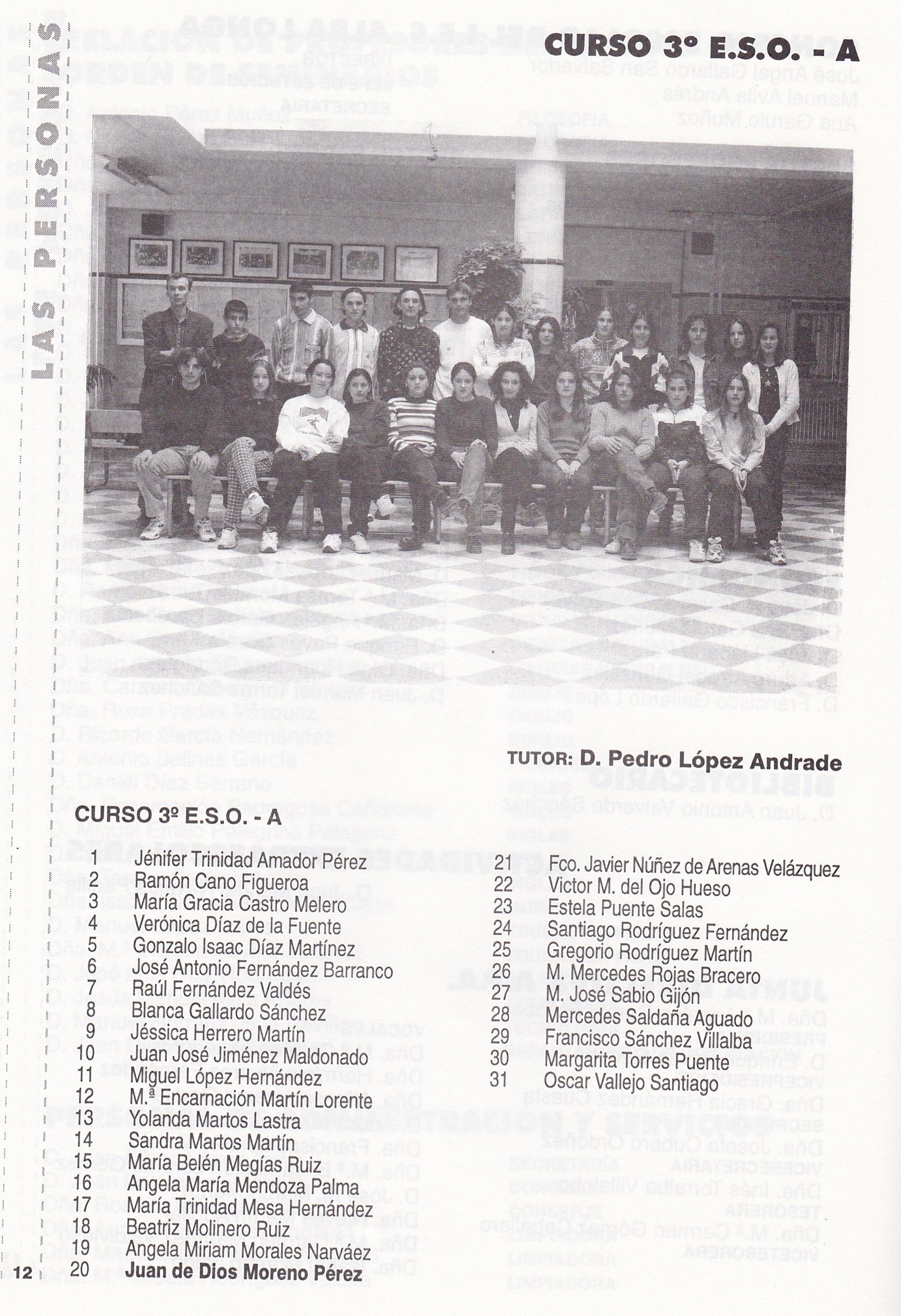 3ESO A (curso 1996-1997)