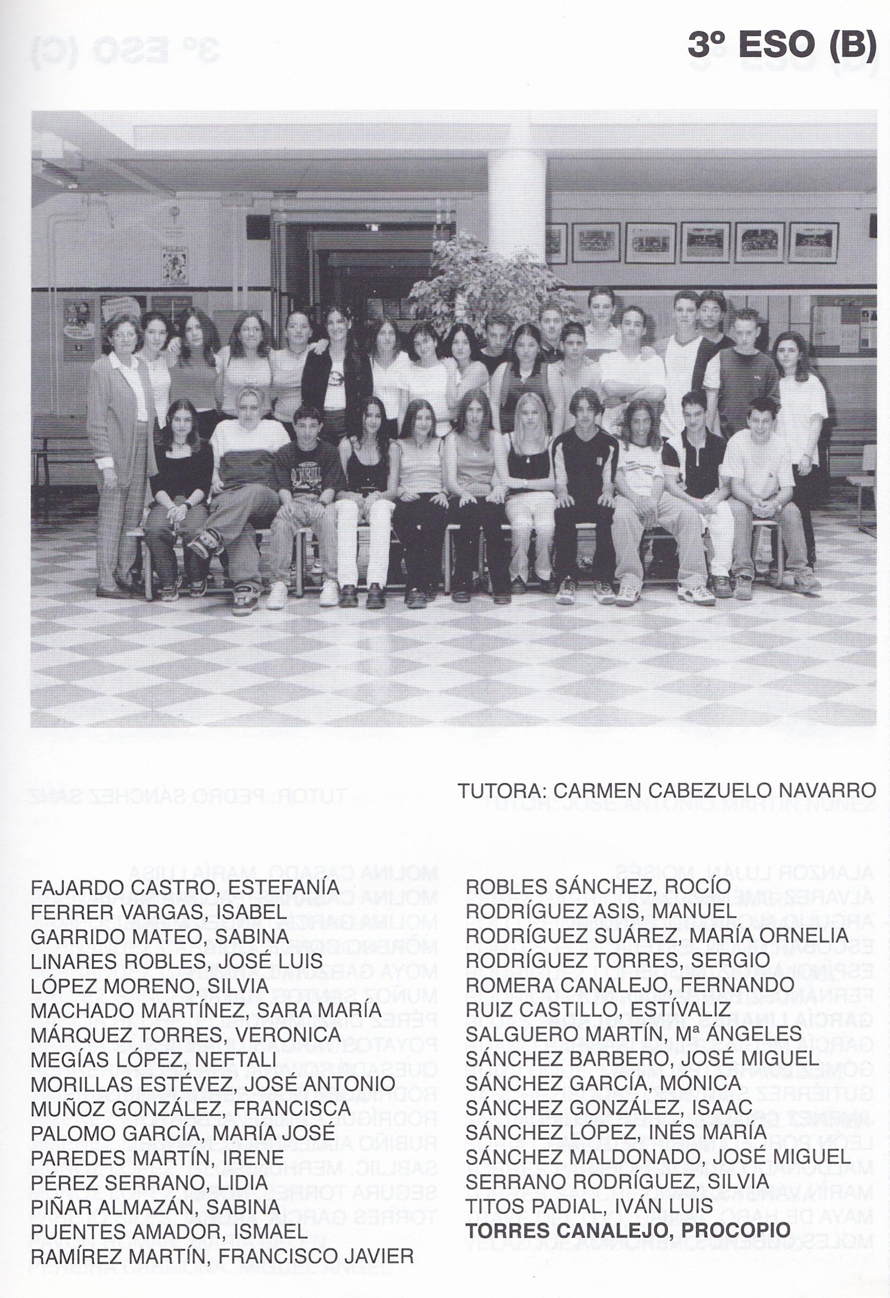 3ESO B (curso 1999-2000)