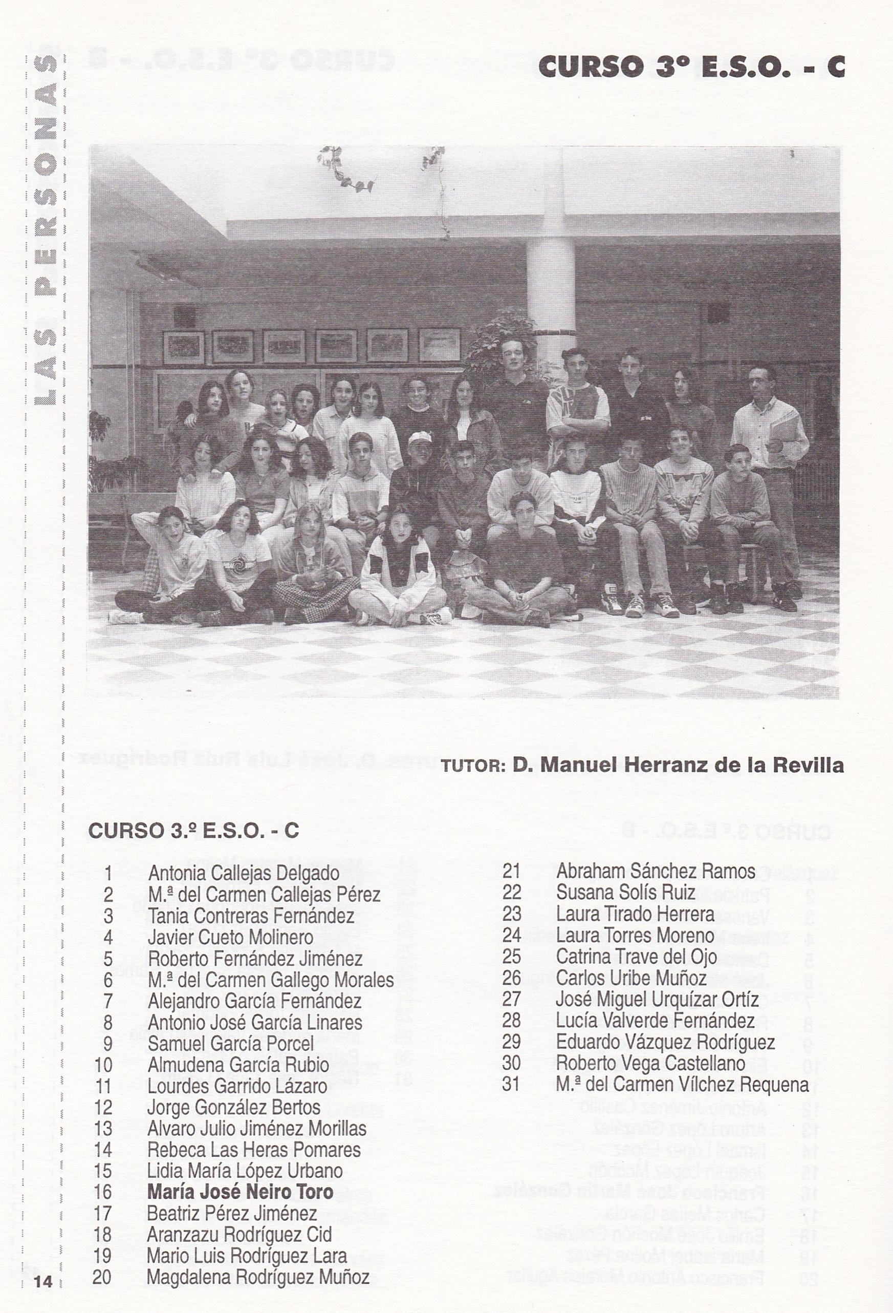 3ESO C (curso 1996-1997)