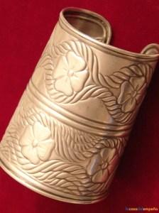 """Brazalete romano (""""armilla"""") grabado en plata"""