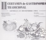 II Certamen de Gastronomía Tradicional (curso 1994-1995)
