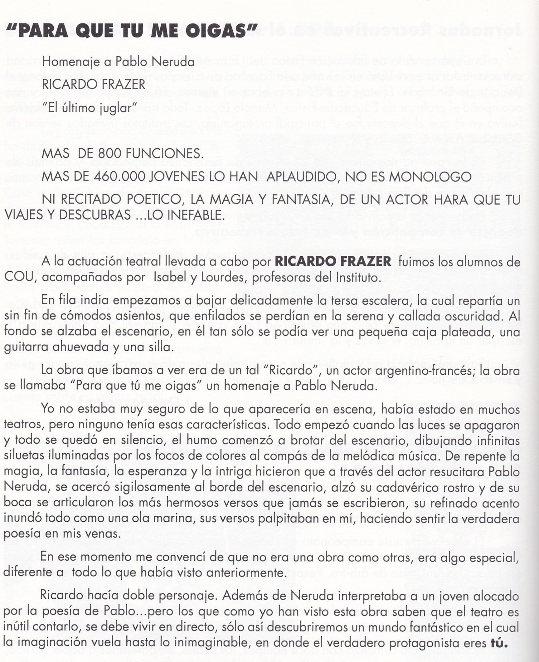 teatro Ricardo Frazer