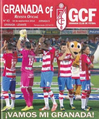 ¡Vamos mi granada!, el lema de la Portada del la Revista Oficial del GCF para este encuentro. Faltó la suerte.