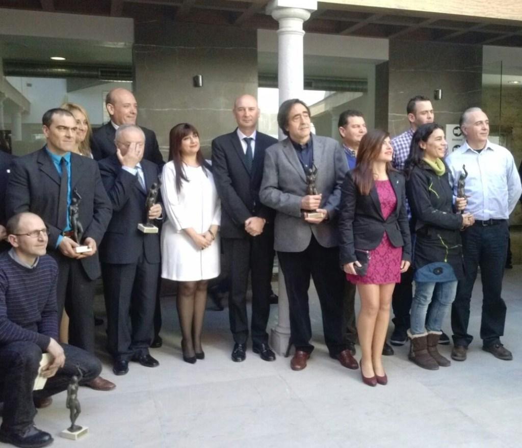 Foto de familia de todas las empresas, colectivos y entidades premiadas este año.