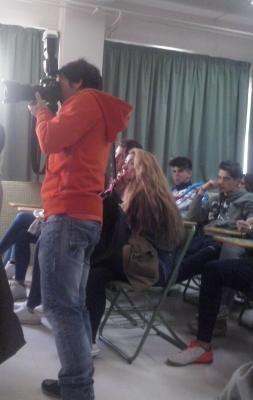La prensa asistió al acto. PHOTO: Laura González Muñoz.