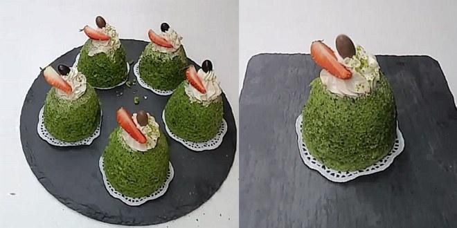 ıspanaklı fincan kek