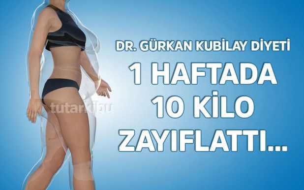 1 haftada 10 kilo zayıflatan diyet listesi