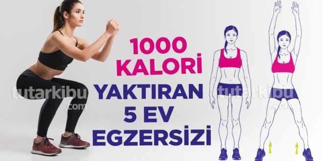 Evde 1000 Kalori Yaktıran Egzersizler