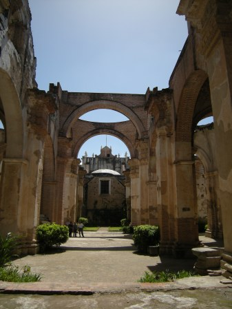 The Catholic cathedral in Antigua was destroyed in an earthquake in 1773.