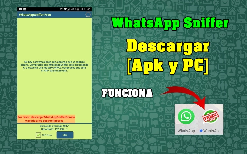 descargar whatsapp sniffer apk para pc