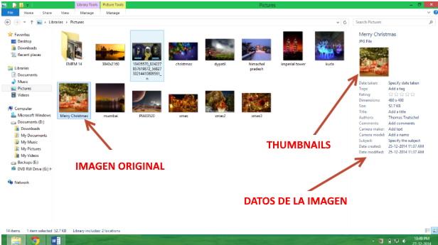 explicación de que es un thumbnail