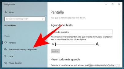 configuracion de cursores windows 10