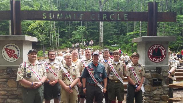Tutelo's Prism contingent at the Summit Circle