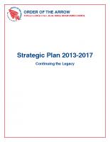 Tutelo Lodge Strategic Plan '13-'17