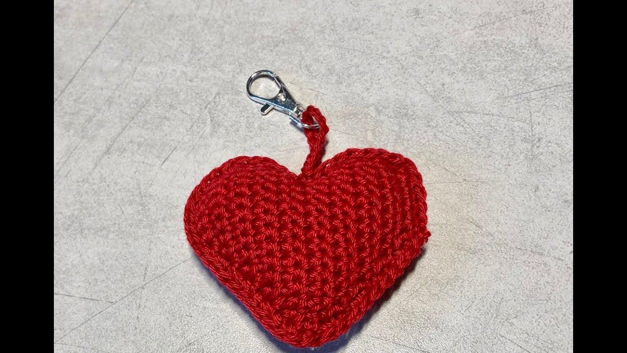 tuto porte cle coeur au crochet special