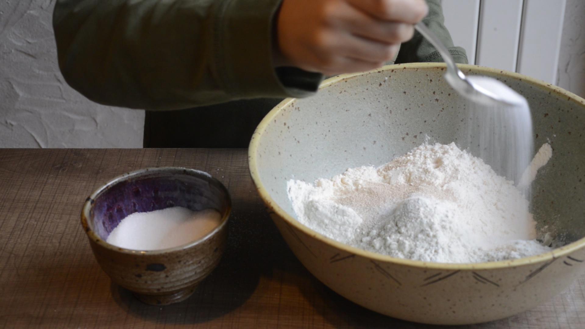 farine-sucre-sel-levure-brioche