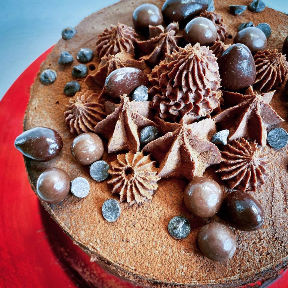 layer cake chocolat-poire