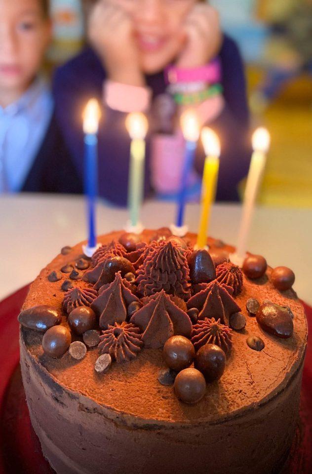 gâteau anniversaire layer cake chocolat-poire