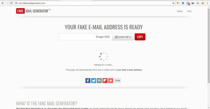 FakeMailGenerator - Mail Temporaires