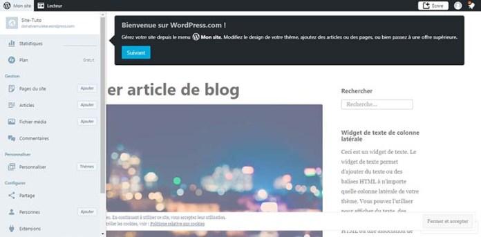 Félicitations, votre Blog est en ligne !