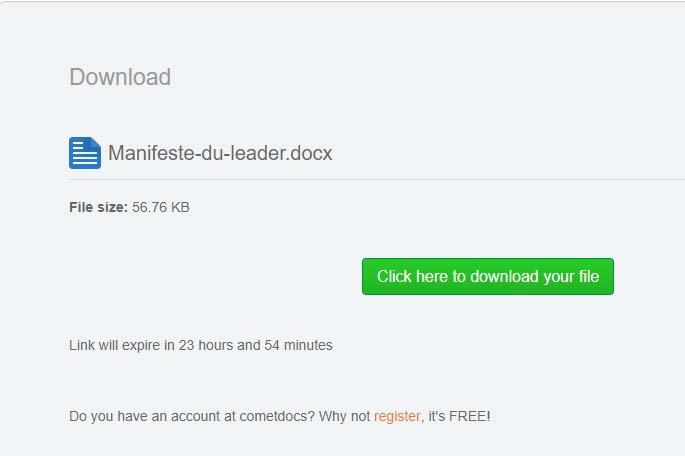 Téléchargez votre fichier converti !