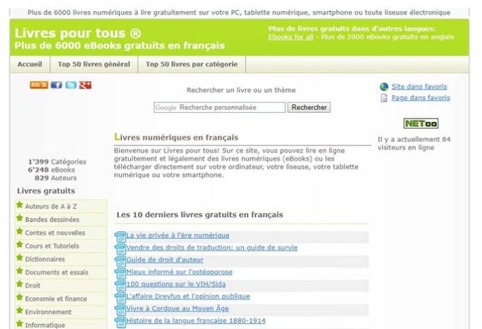 Top 5 Meilleurs Sites   Télécharger Des E-Book Gratuit (Livres en ... 21d4cb9ecc14