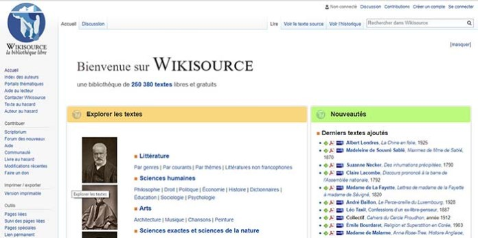 Le site WikiSource !