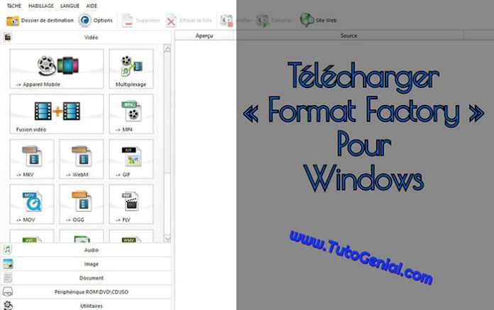 Telecharger Format Factory Gratuit pour Windows